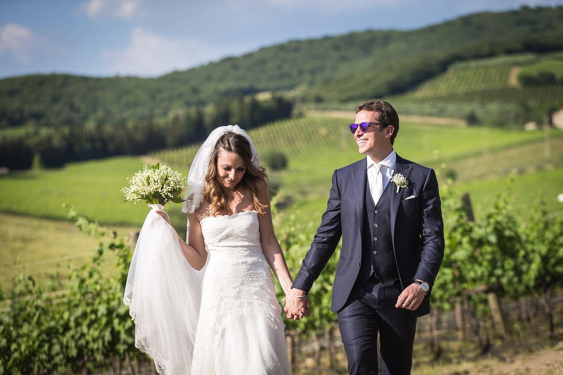 Sposi nelle colline Toscane