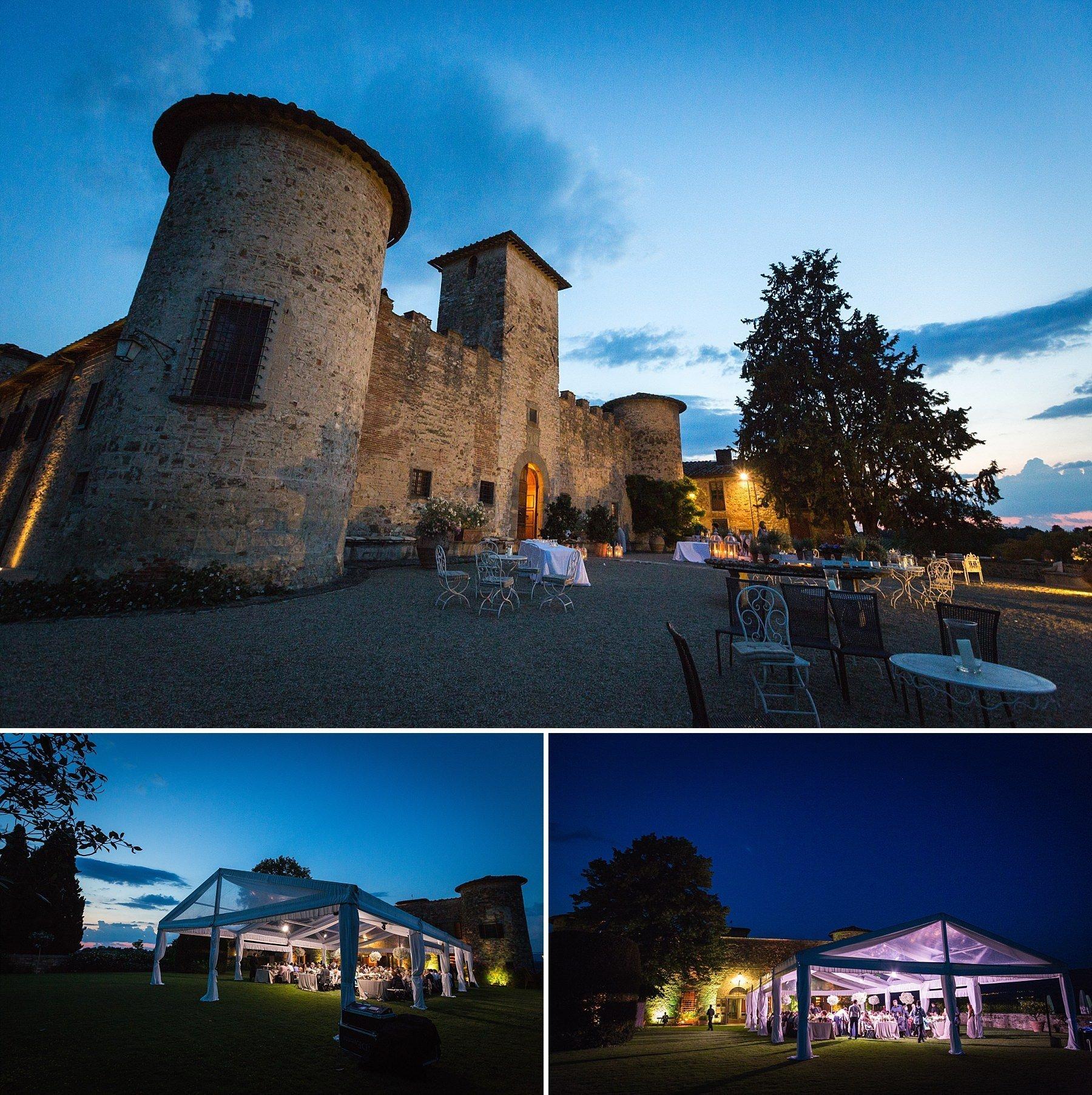 Castello di Gabbiano di Sera