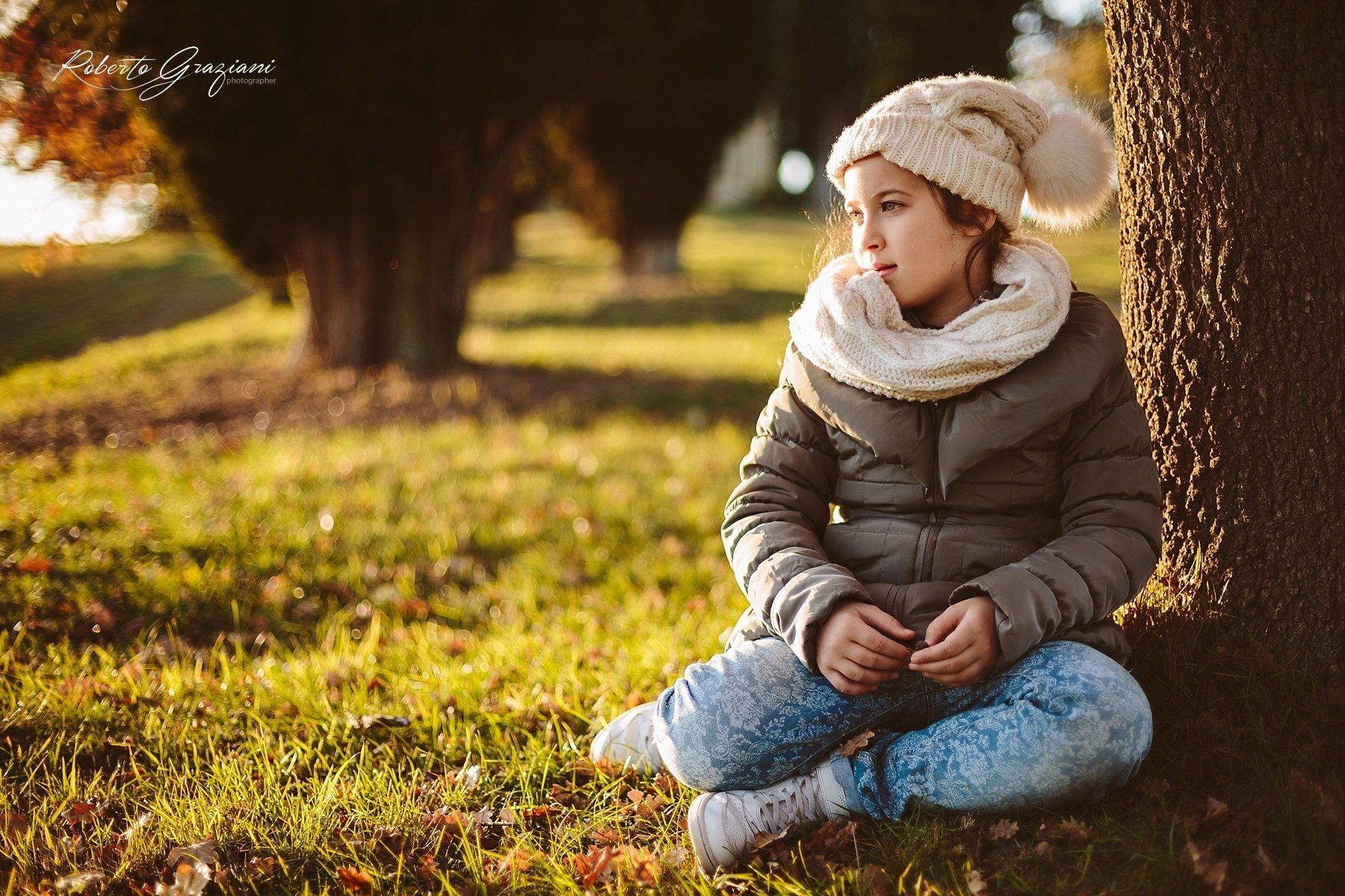 Servizio Fotografico ad una bellissima Bambina in autunno
