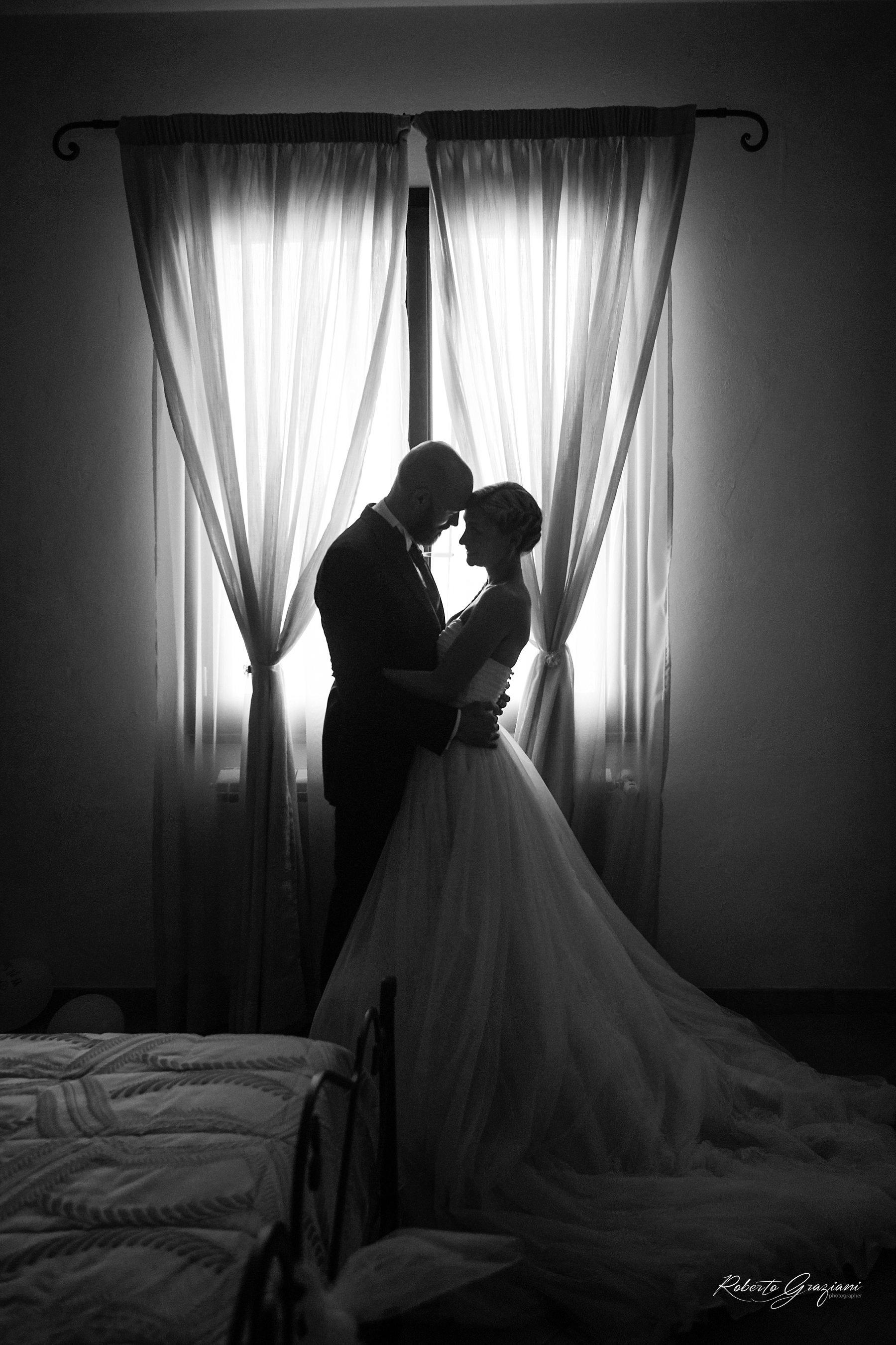 fotografia di matrimonio in bianco e nero