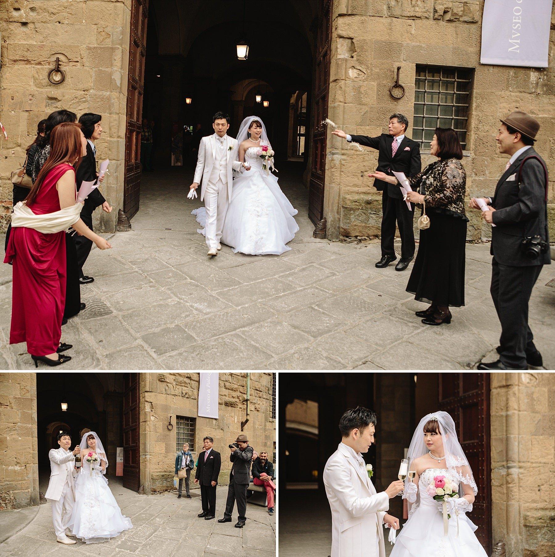 Just Married, Uscita sposi da Palazzo Vecchio a Firenze