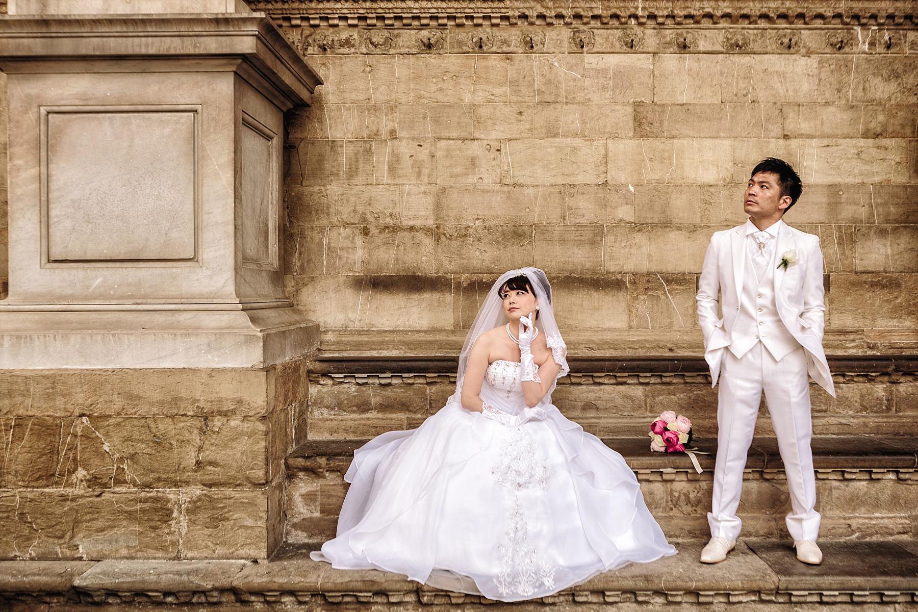Foto ritratti in posa di sposi a Firenze