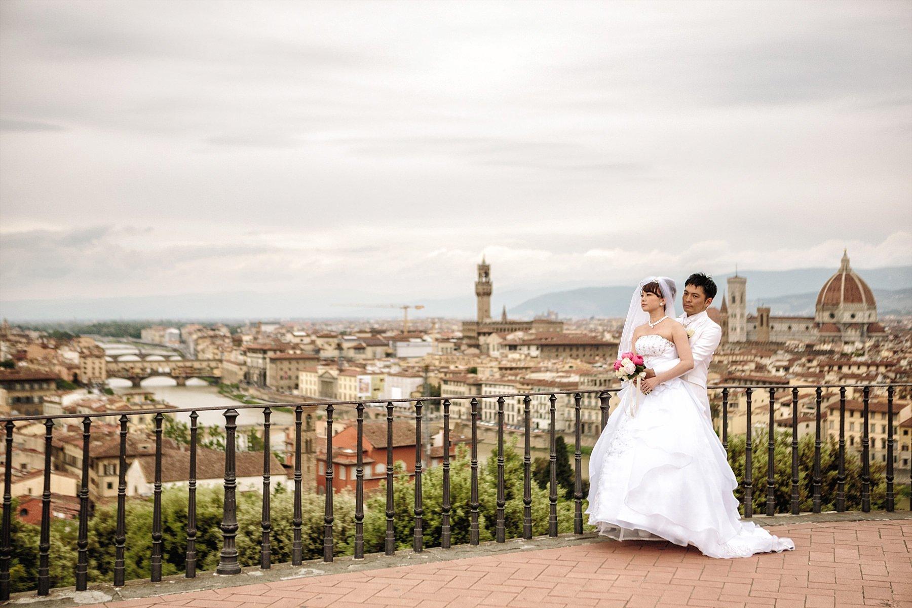 Fotografia di matrimonio a Firenze al Piazzale Michelangelo
