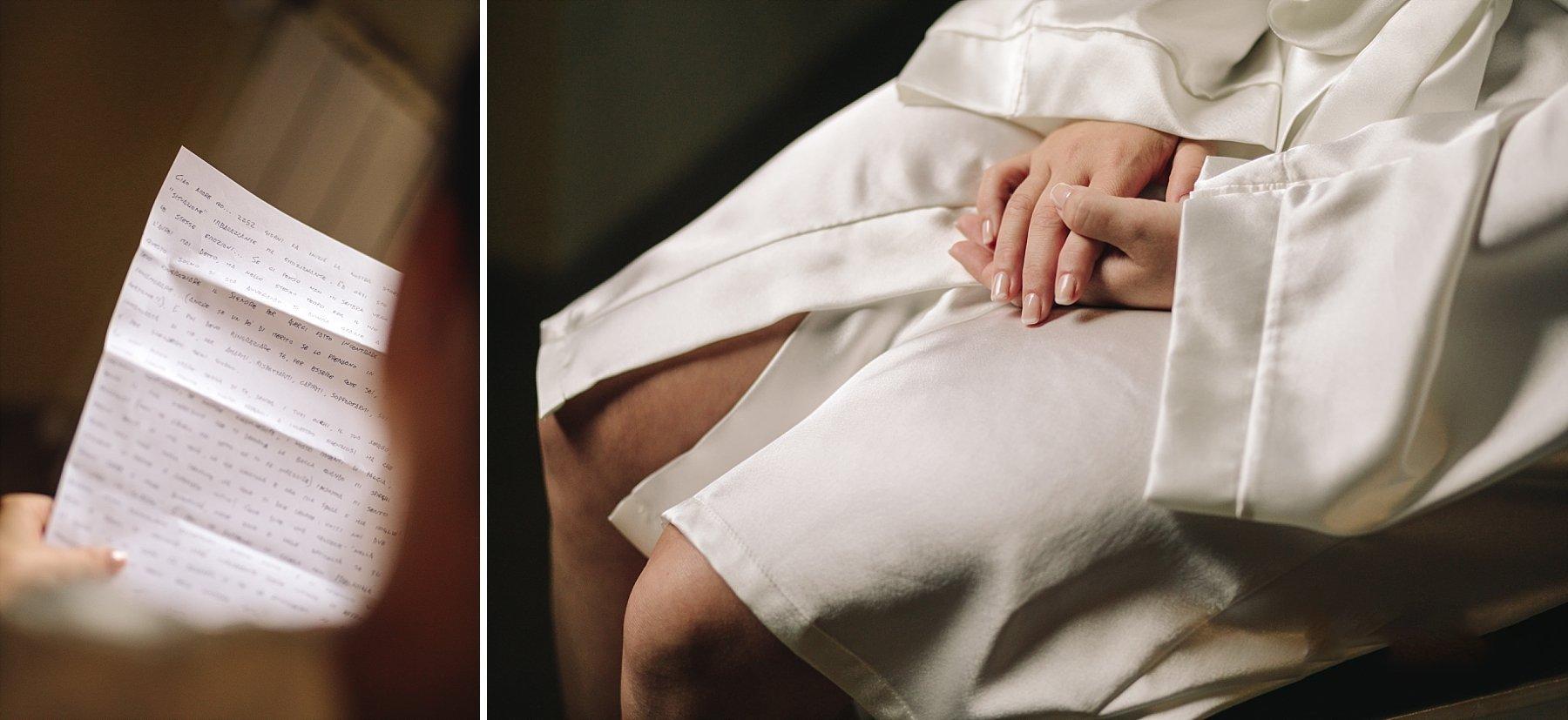 preparazione sposa in vestaglia