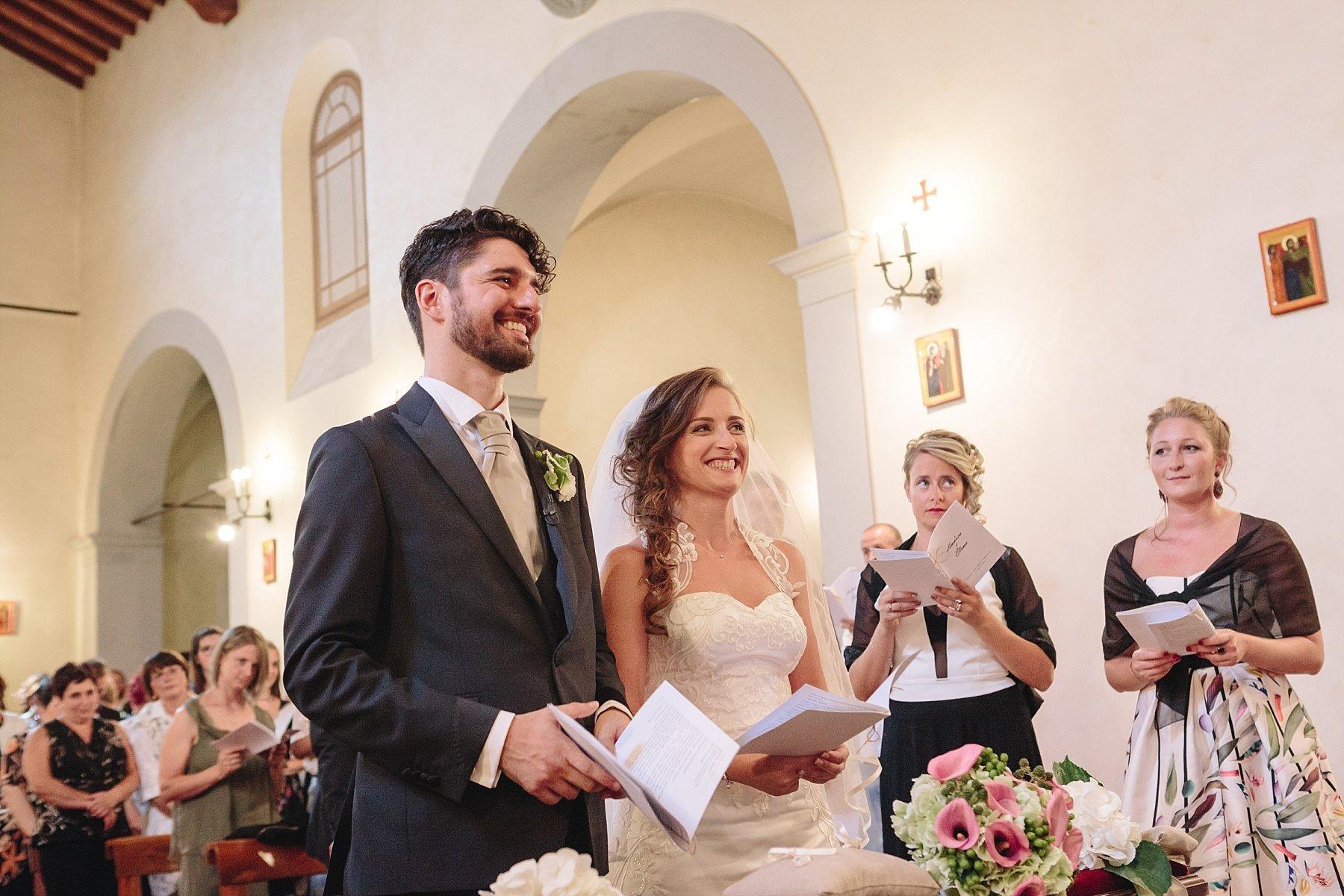 Cerimonia religiosa nella chiesa dei Cappuccini nel Mugello