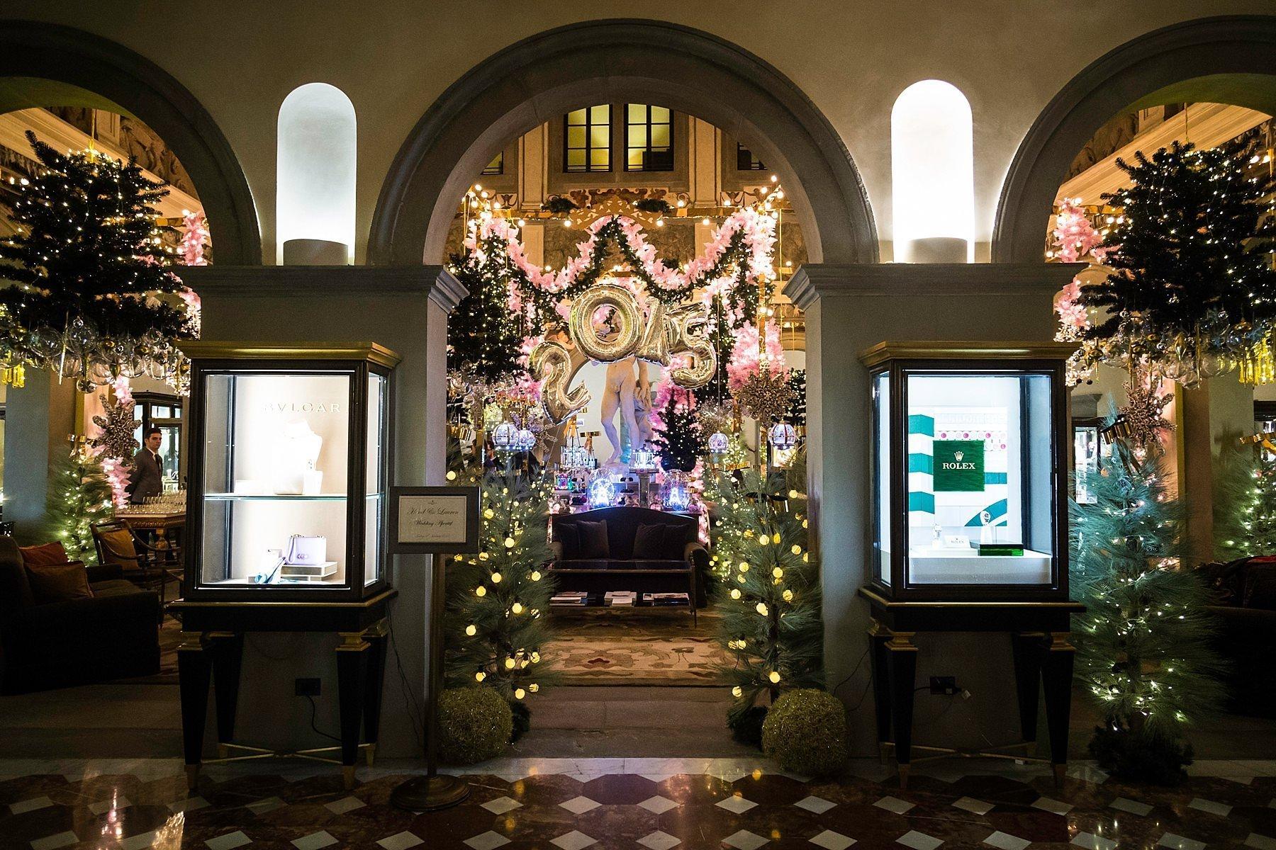 Allestimento natalizio del Four Seasons Firenze