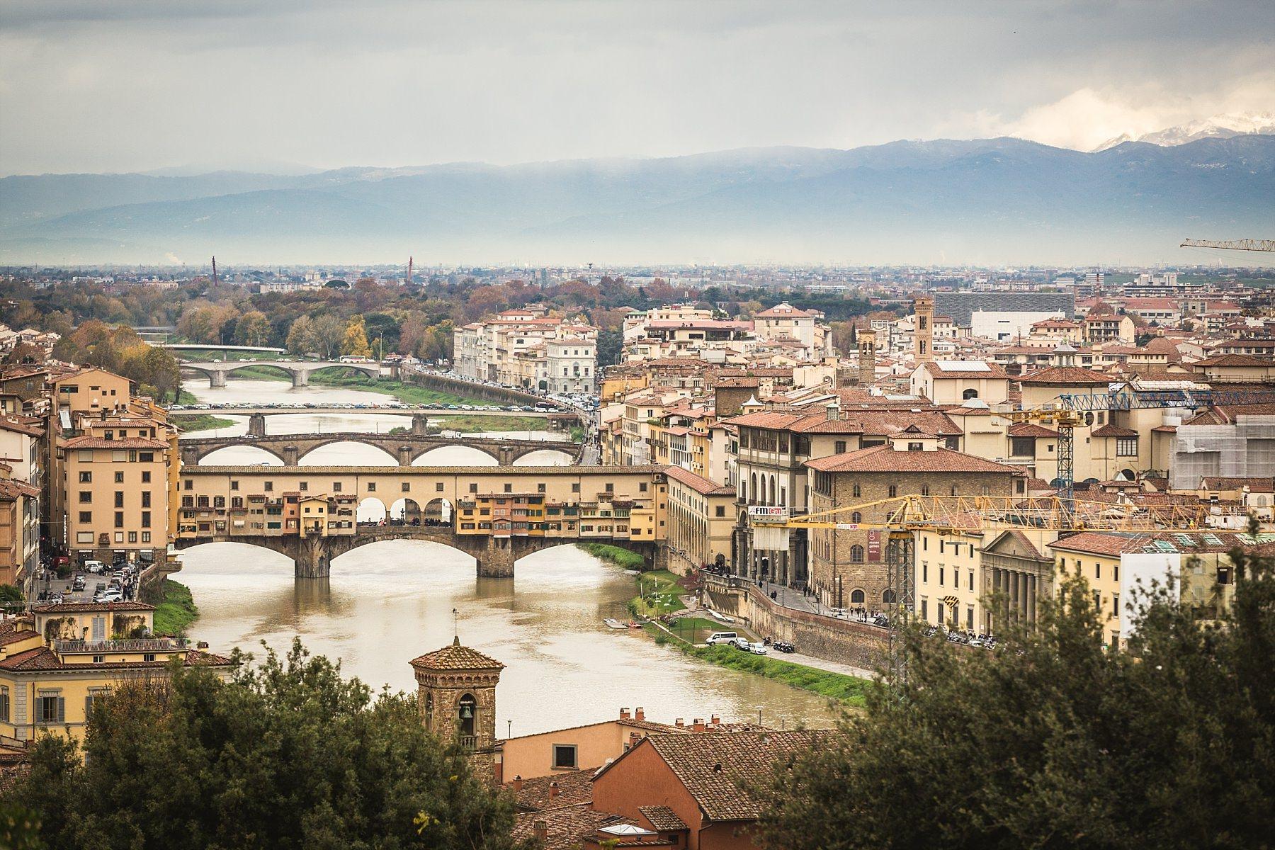 Firenze Ponte Vecchio visto dal Piazzale Michelangelo
