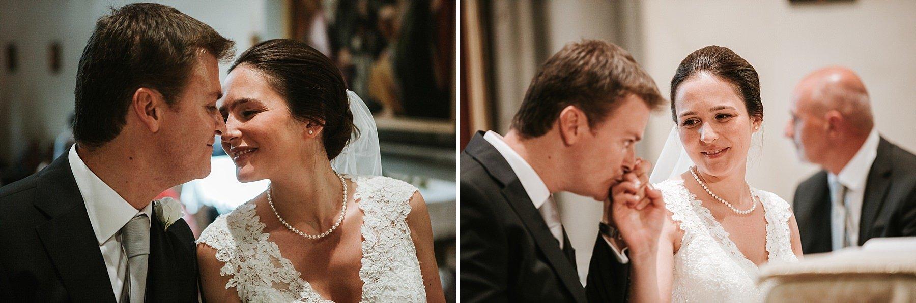 Sposi durante la cerimonia a Pistoia