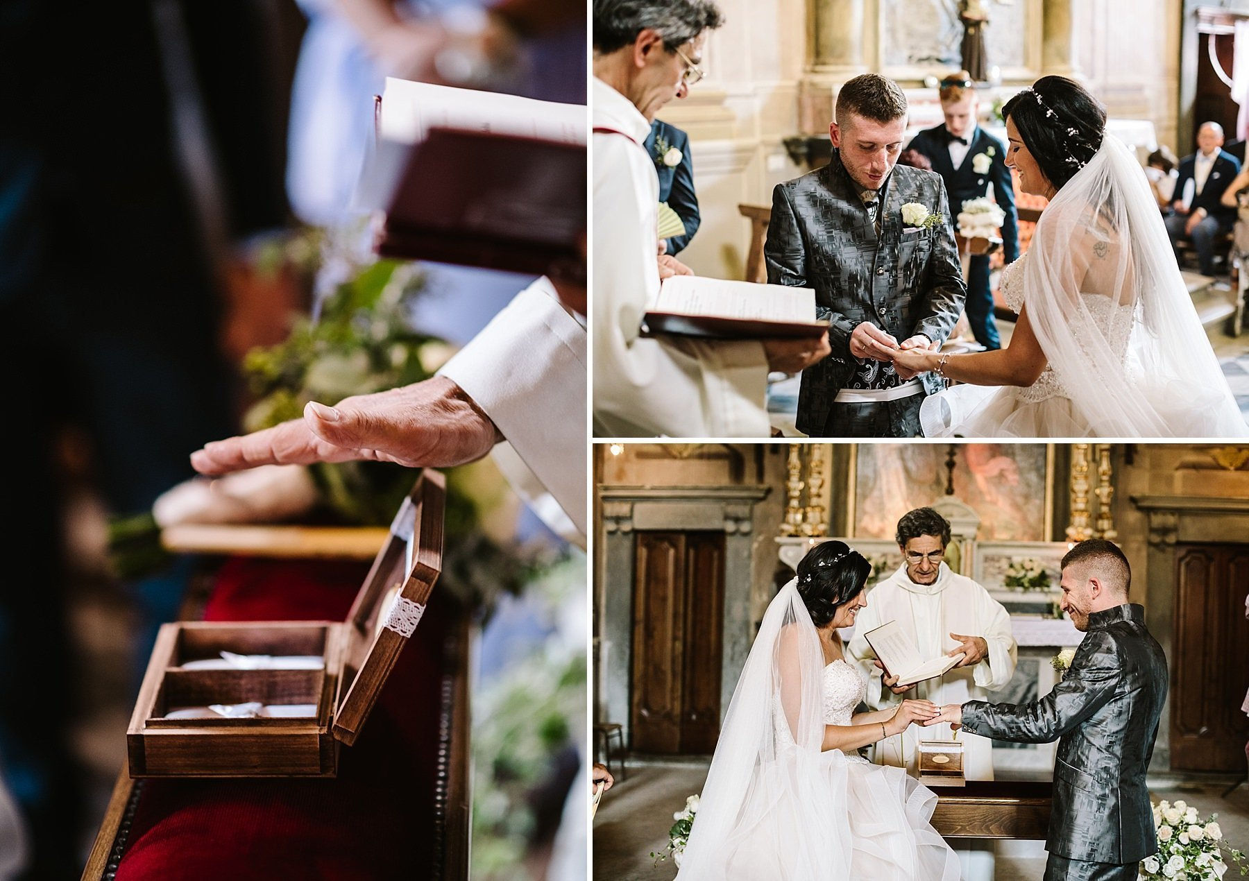scambio degli anelli in chiesa