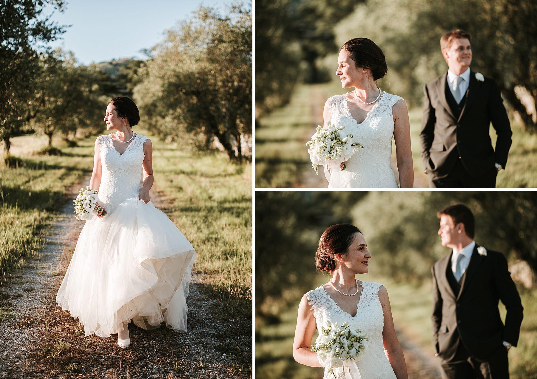 Sposo e Sposa durante le foto di matrimonio Pistoia