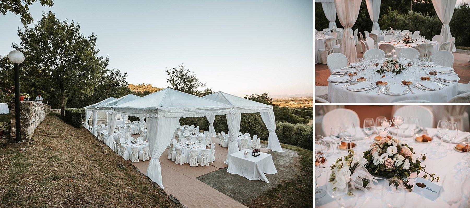 Allestimento cena Matrimonio a Pistoia
