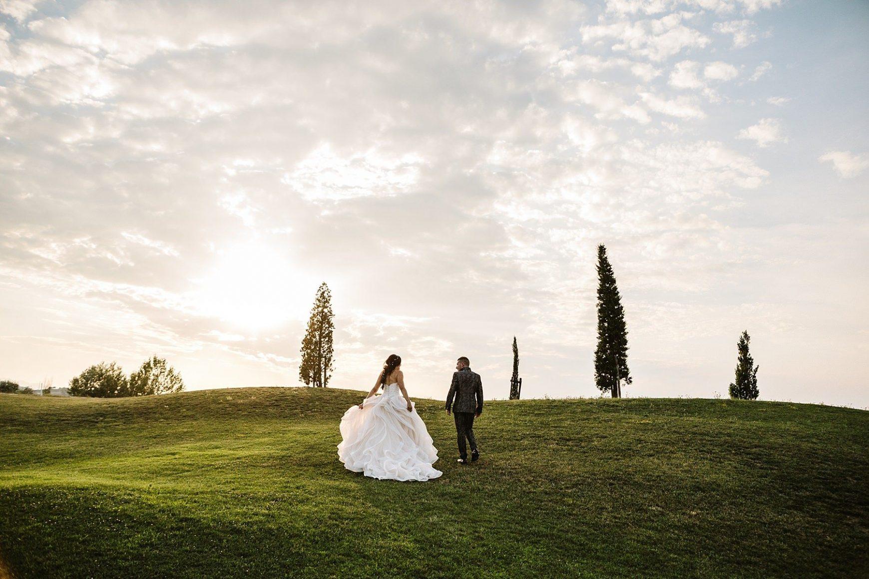 spettacolare fotografia di matrimonio in toscana a Vinci