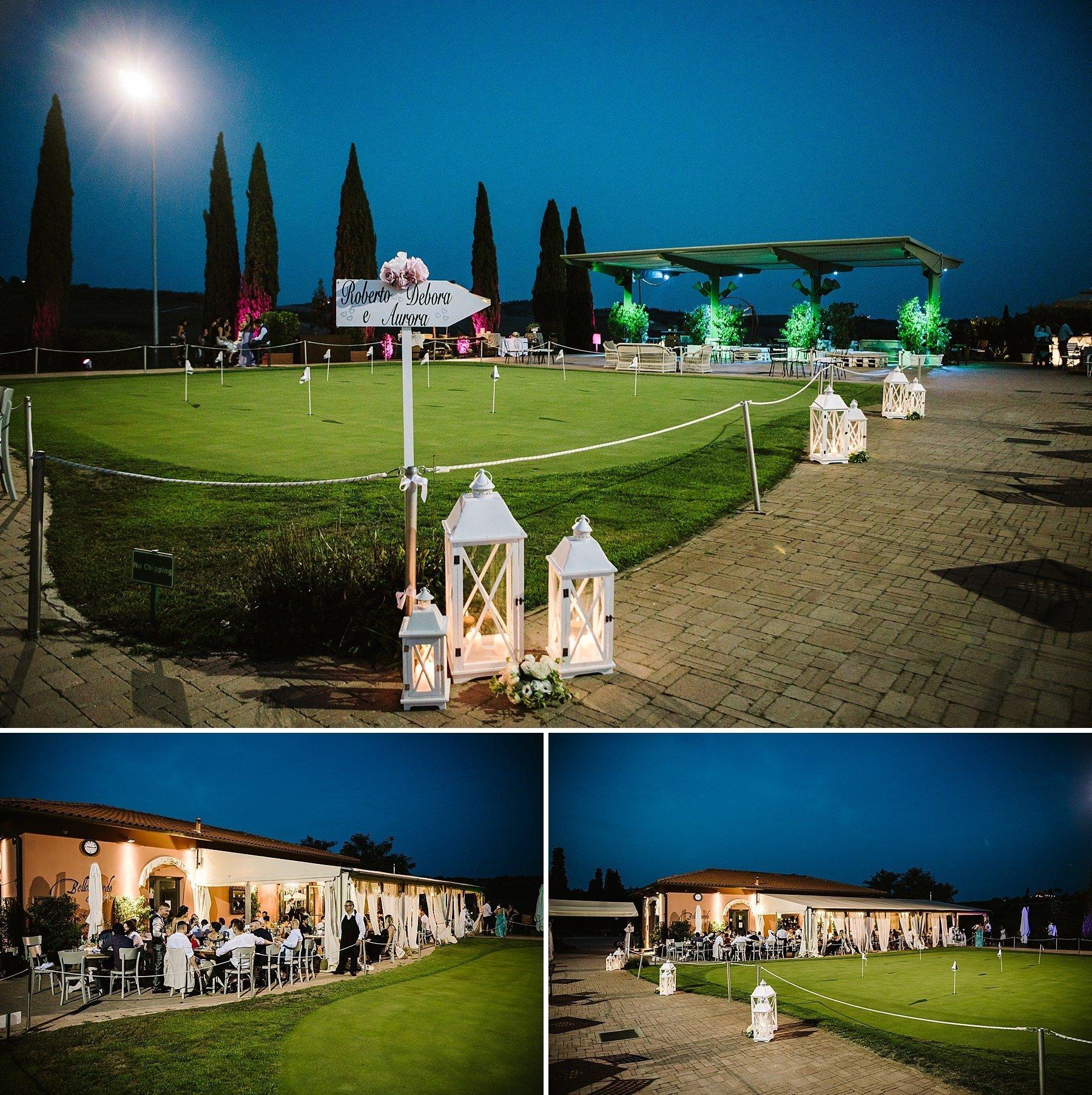 matrimonio al golf Bellosguardo a Vinci