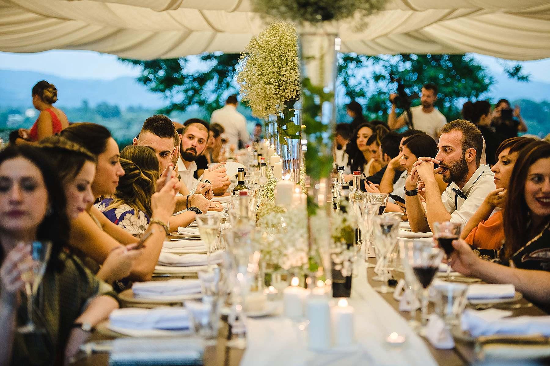 cena sposi a villa di corte nel Mugello