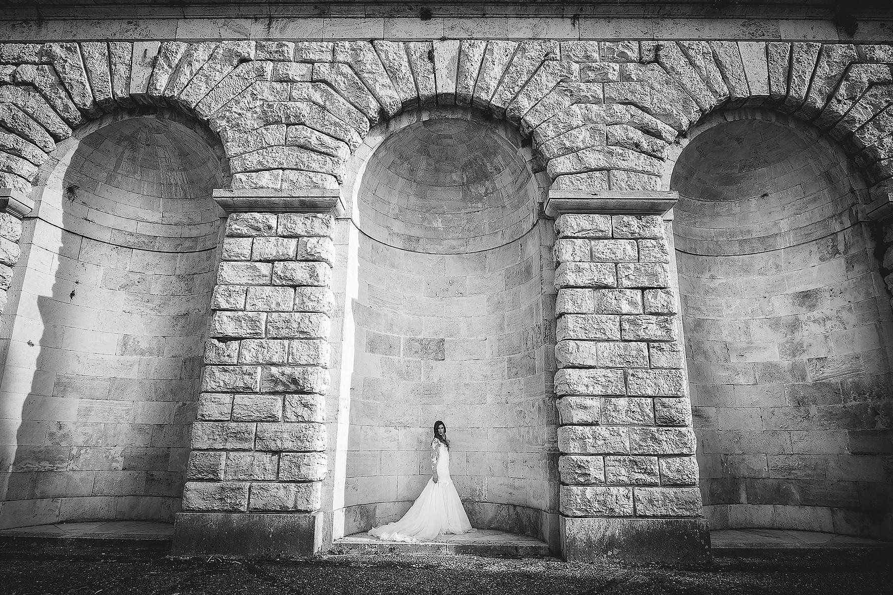 Sposa in bianco e nero a Firenze