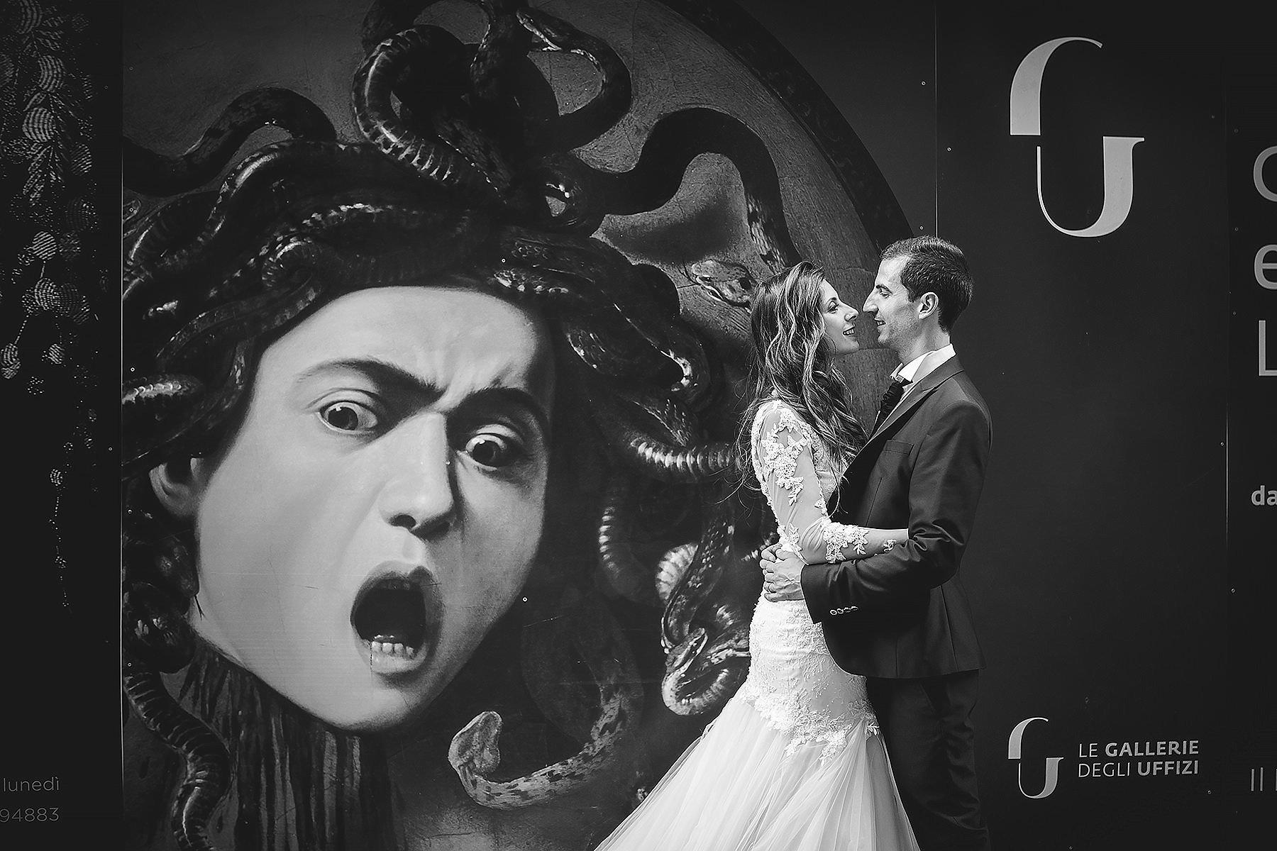 fotografia di sposi in bianco e nero