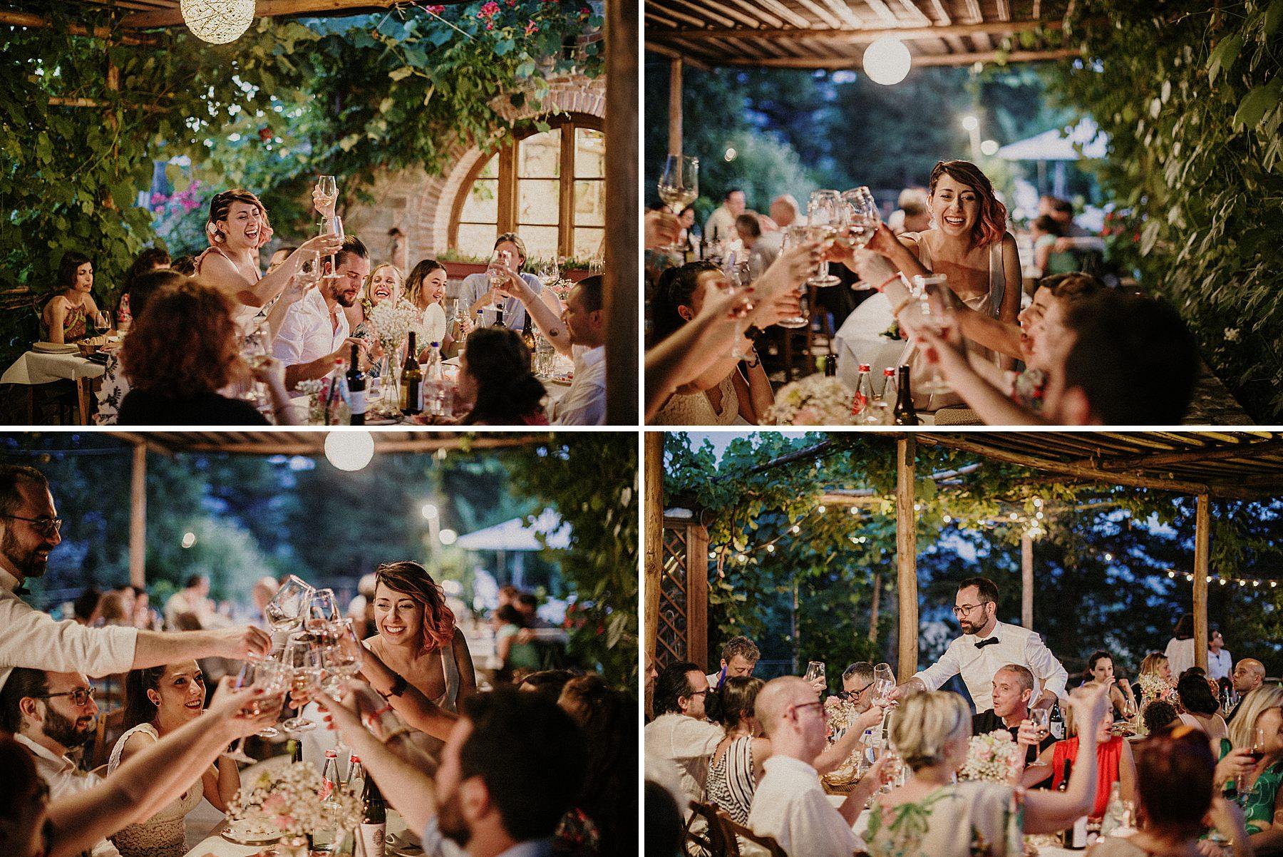 Cena di matrimonio alla Colombaia