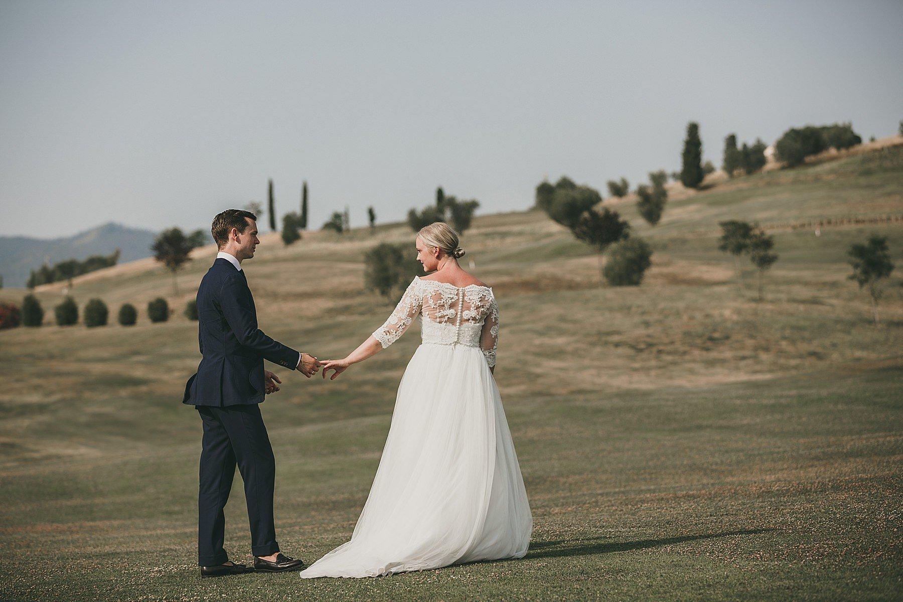 Foto di matrimonio al Golf Bellosguardo Vinci