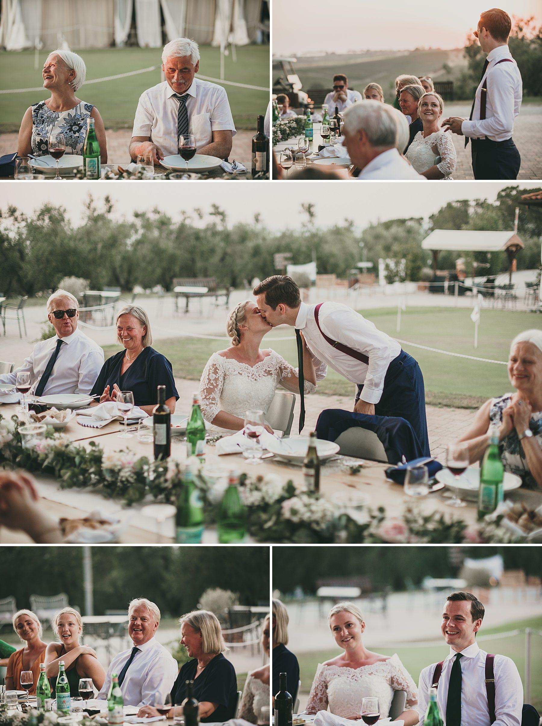 Cena di matrimonio a Bellosguardo Vinci