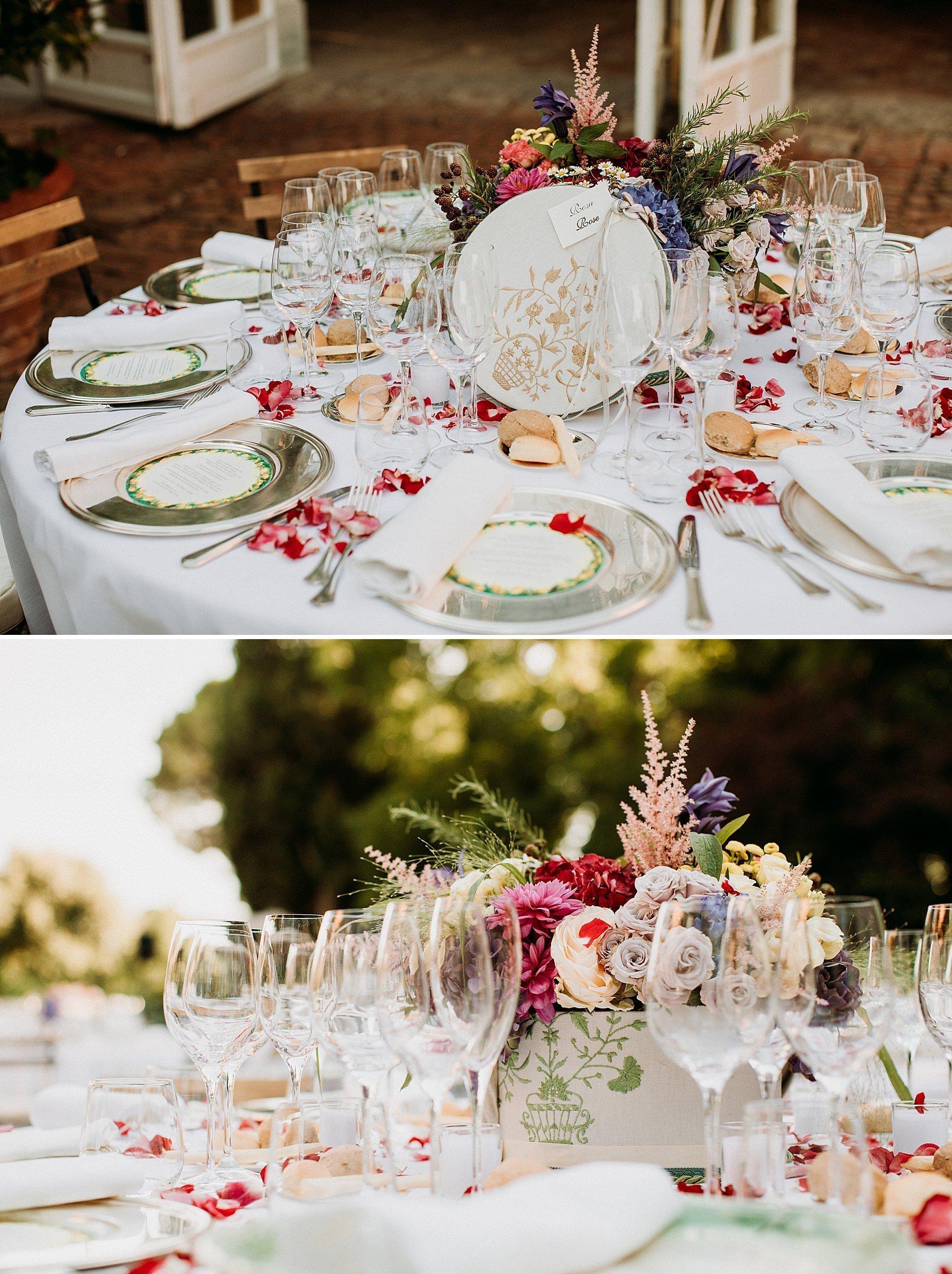 matrimonio a imola tenuta montericco allestimento cena simona xella
