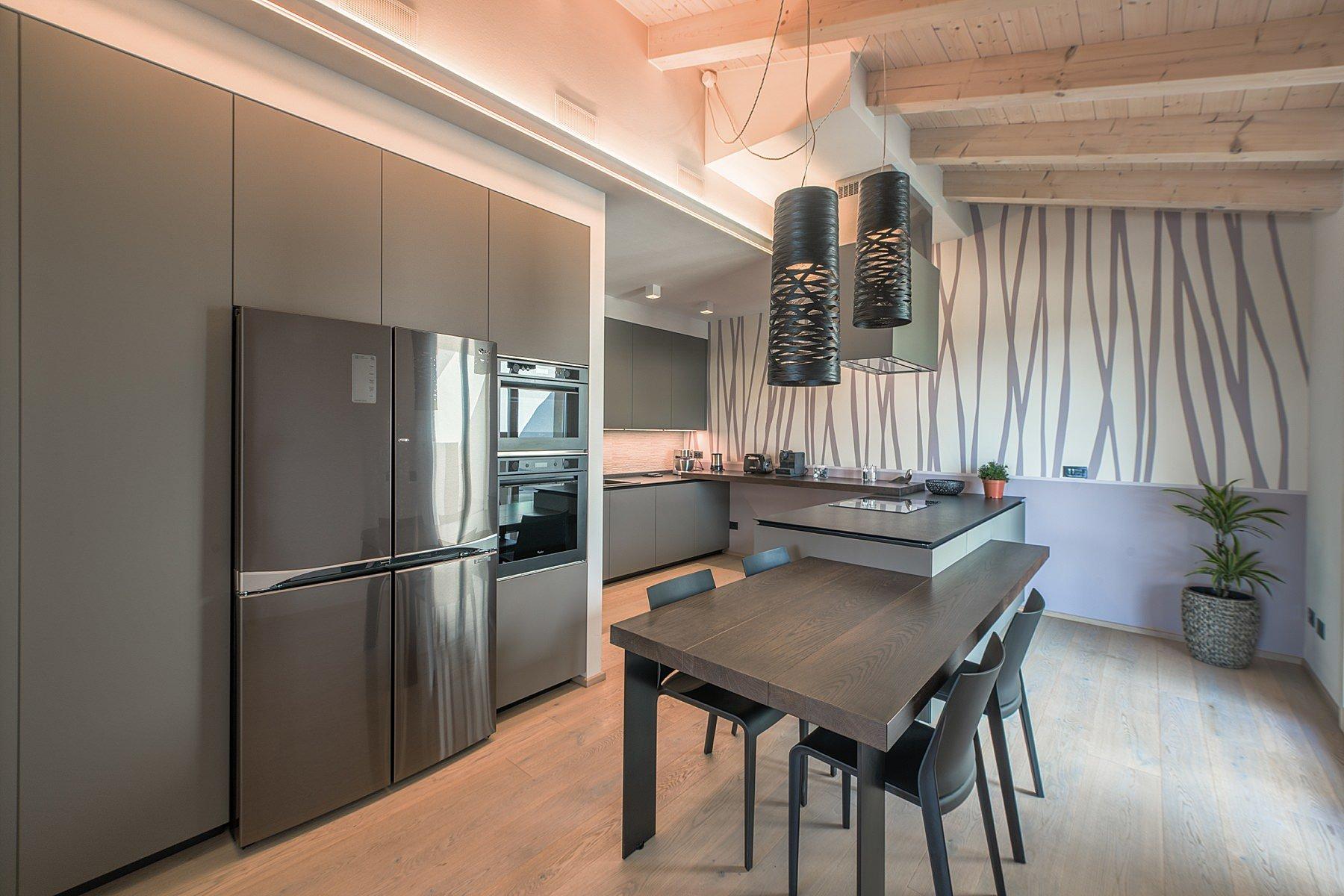 fotografia di interni cucina villa in toscana